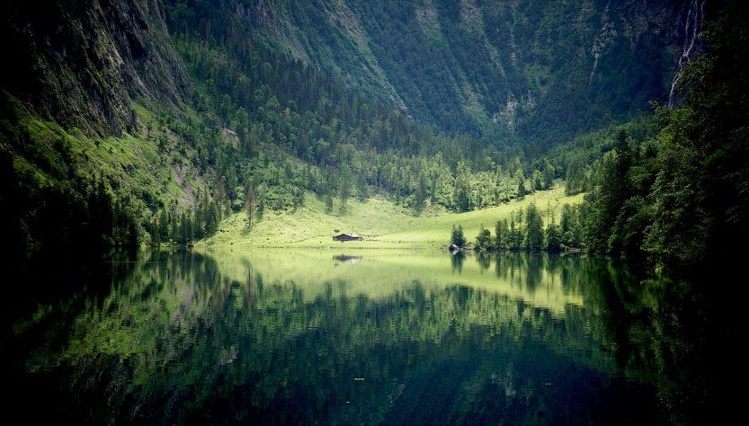 Lake Mountains Trees Fields Meadow  - marcuskautz / Pixabay